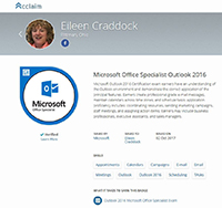 Microsoft Outlook 2016 Specialist Certification